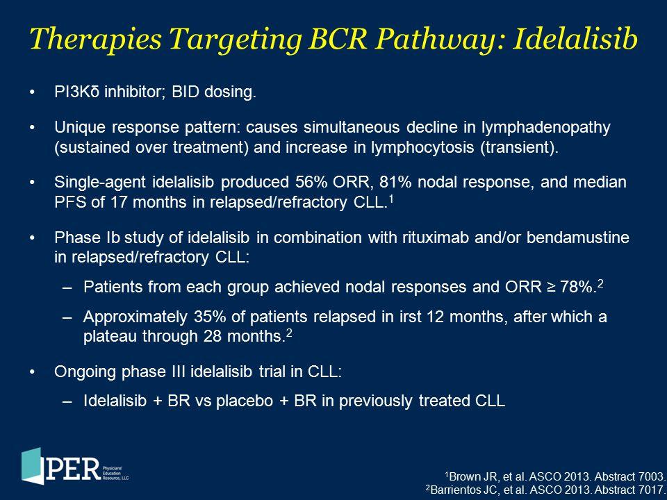 Therapies Targeting BCR Pathway: Idelalisib