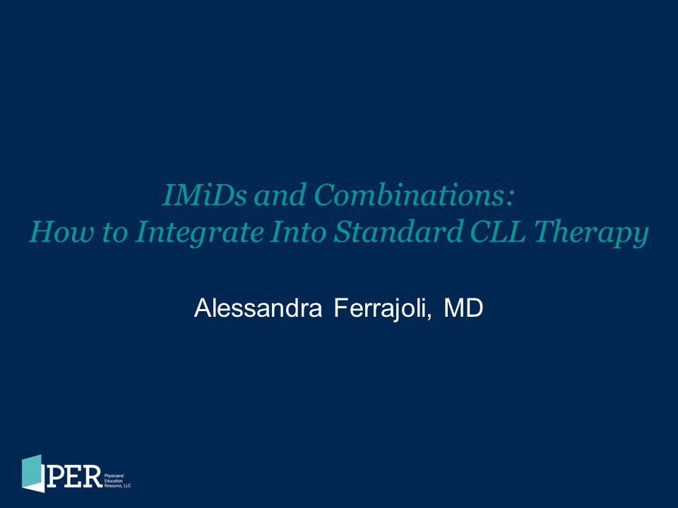 IMiDs and Combinations: How to Integrate Into Standard CLL Therapy