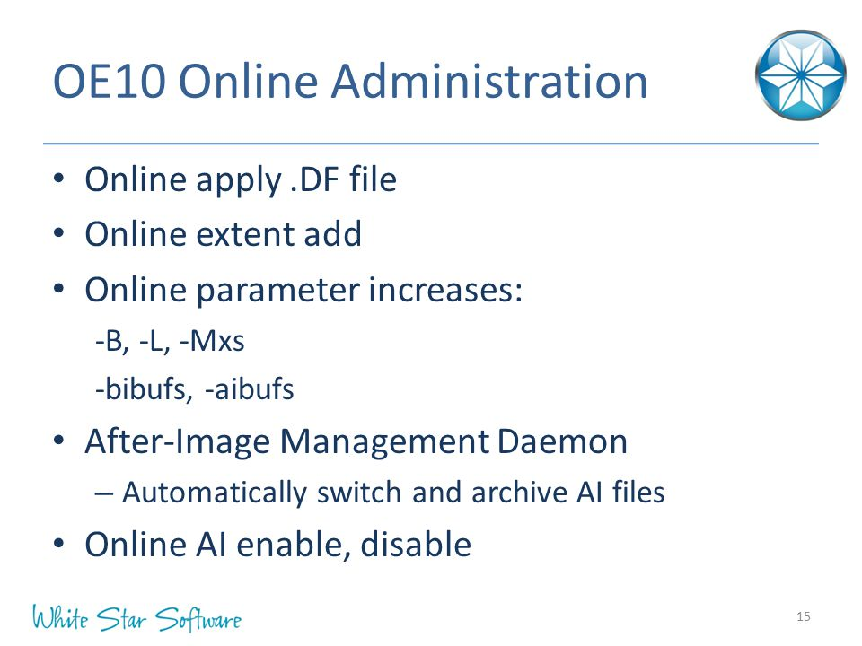 OE10 Online Administration
