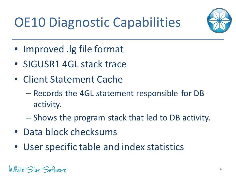 OE10 Diagnostic Capabilities