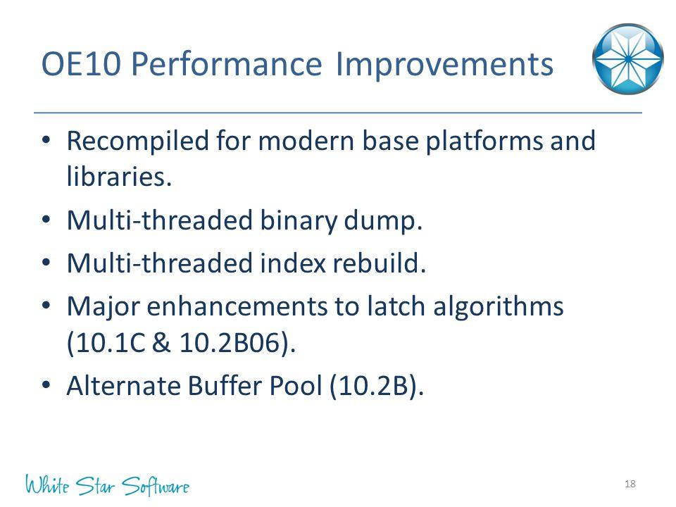 OE10 Performance Improvements
