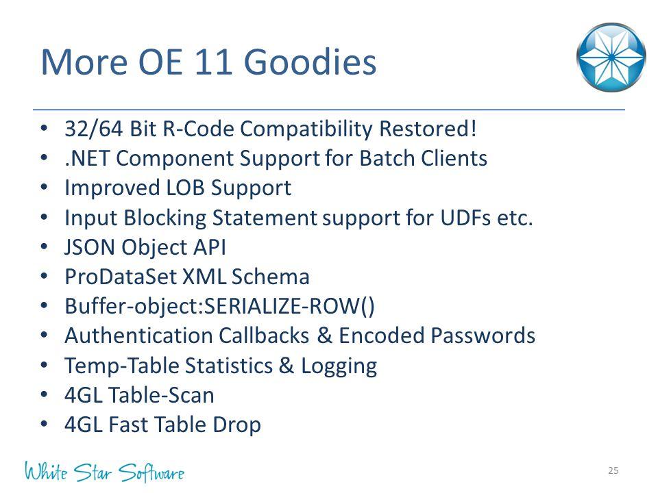 More OE 11 Goodies 32/64 Bit R-Code Compatibility Restored!