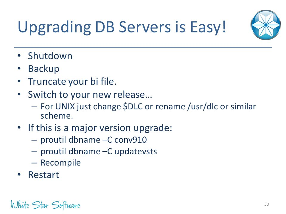 Upgrading DB Servers is Easy!