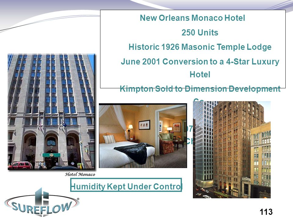 New Orleans Monaco Hotel 250 Units Historic 1926 Masonic Temple Lodge