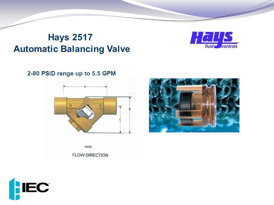 Hays 2517 Automatic Balancing Valve