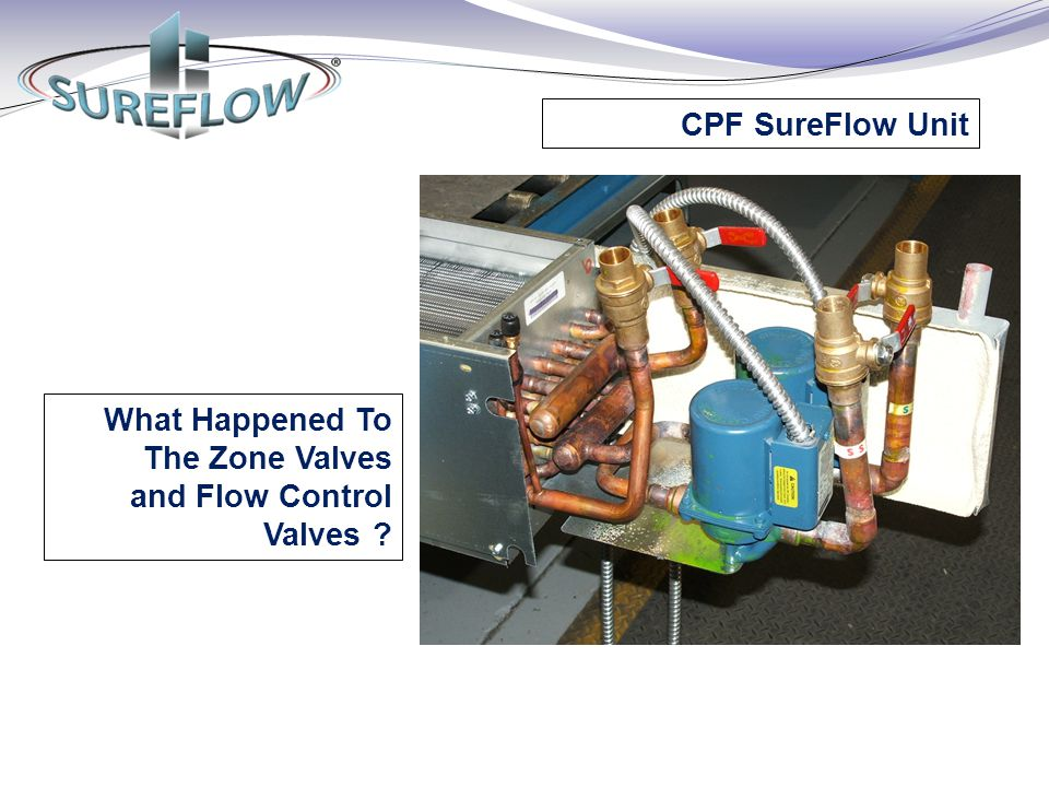 CPF SureFlow Unit What Happened To The Zone Valves and Flow Control Valves