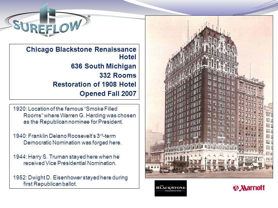 Chicago Blackstone Renaissance Hotel 636 South Michigan 332 Rooms