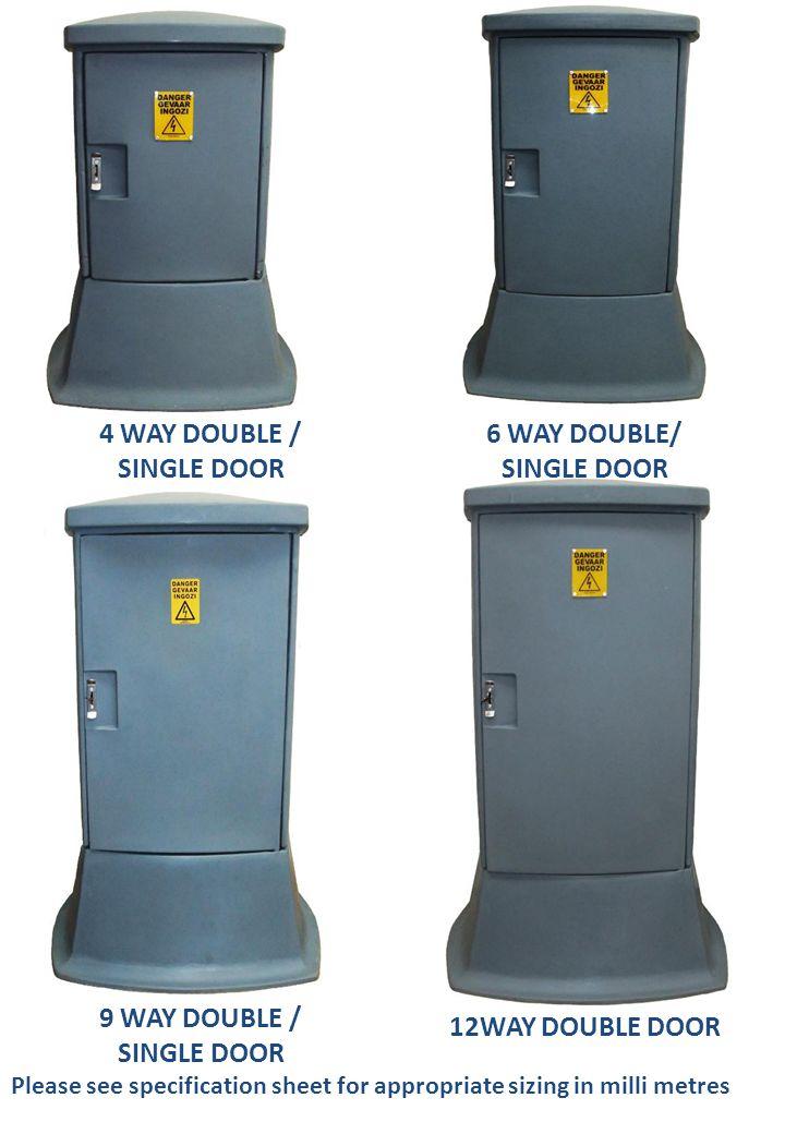 4 WAY DOUBLE / SINGLE DOOR 6 WAY DOUBLE/ SINGLE DOOR 9 WAY DOUBLE /