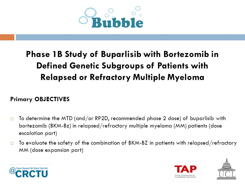 Phase 1B Study of Buparlisib with Bortezomib in Defined Genetic Subgroups of Patients with Relapsed or Refractory Multiple Myeloma