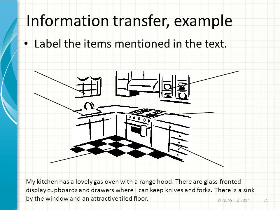 Information transfer, example