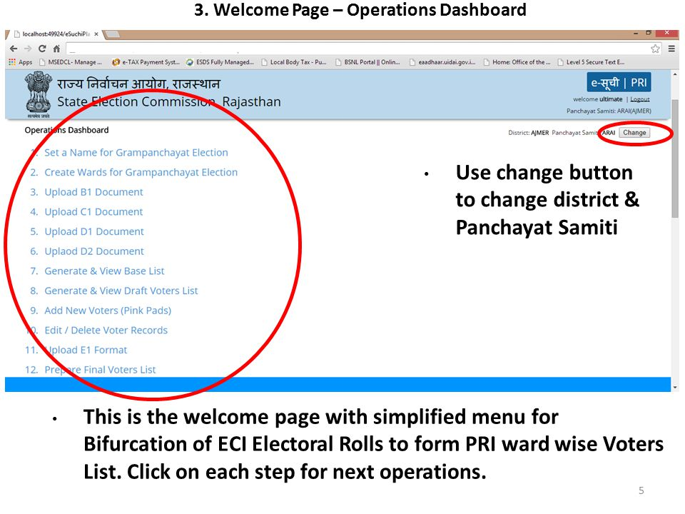 3. Welcome Page – Operations Dashboard