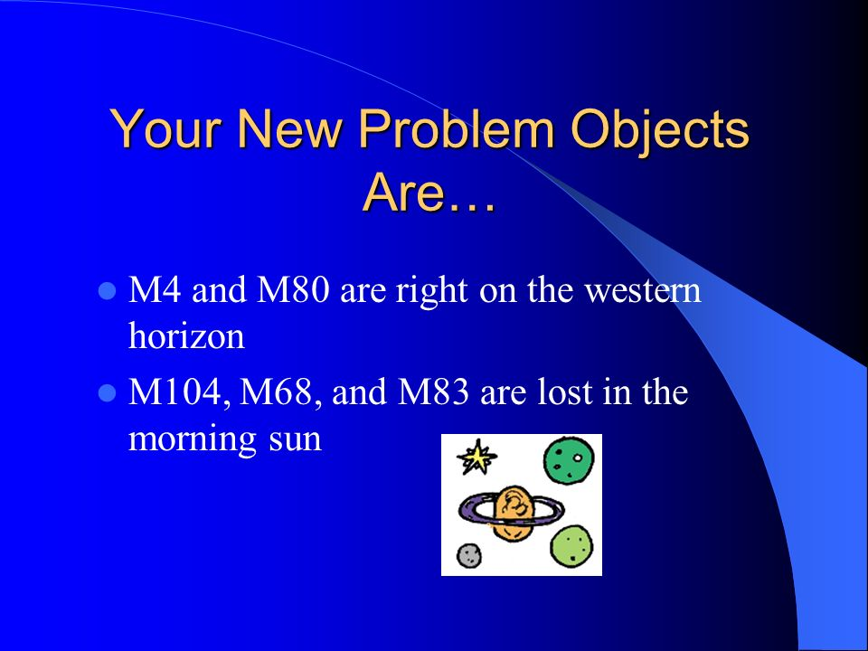 Your New Problem Objects Are…