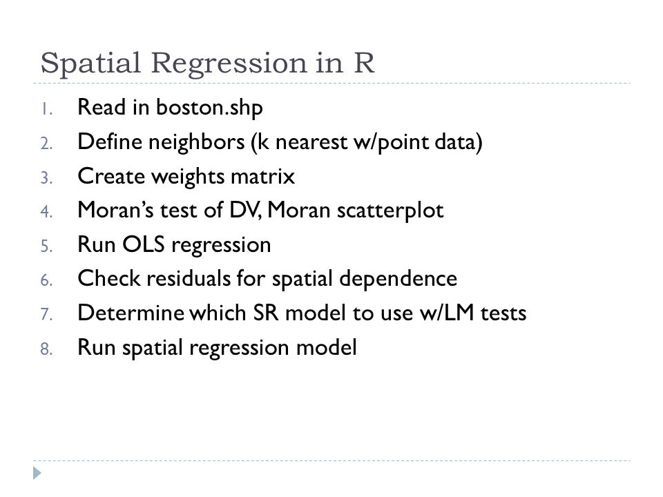 Spatial Regression in R