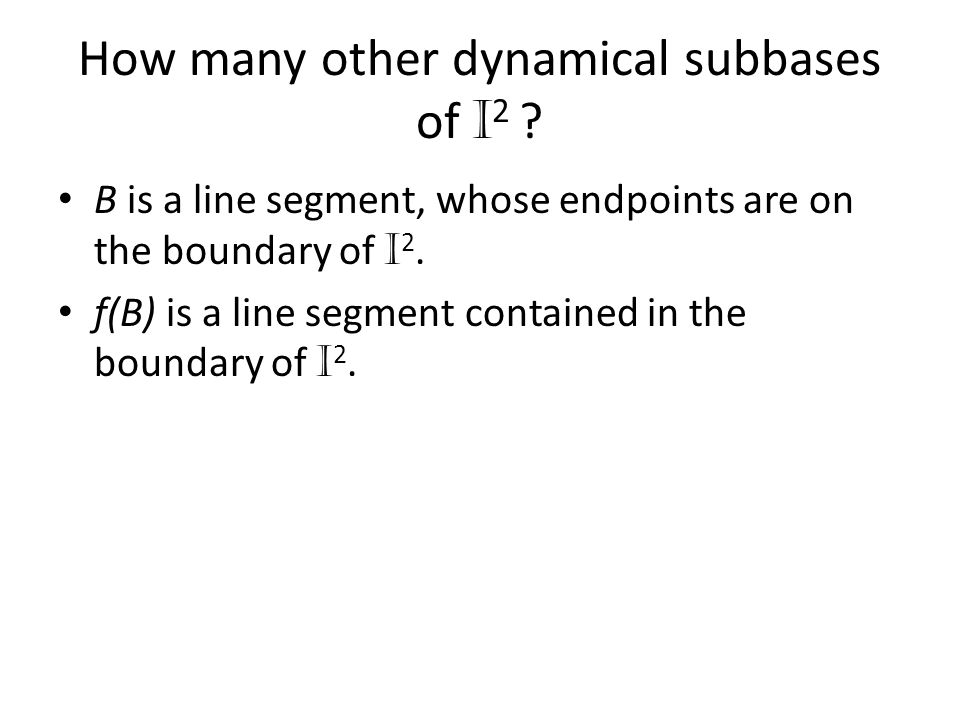 How many other dynamical subbases of I2