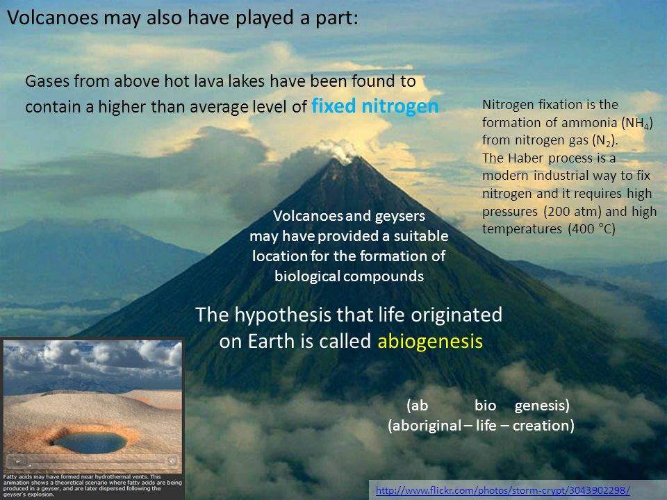 Volcanoes may also have played a part: