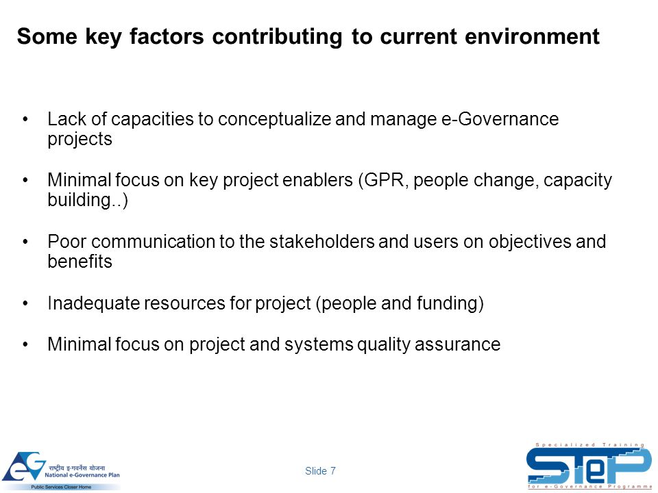 Some key factors contributing to current environment