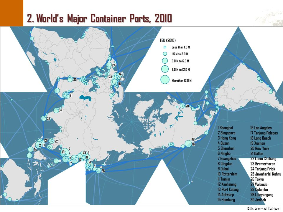2. World's Major Container Ports, 2010