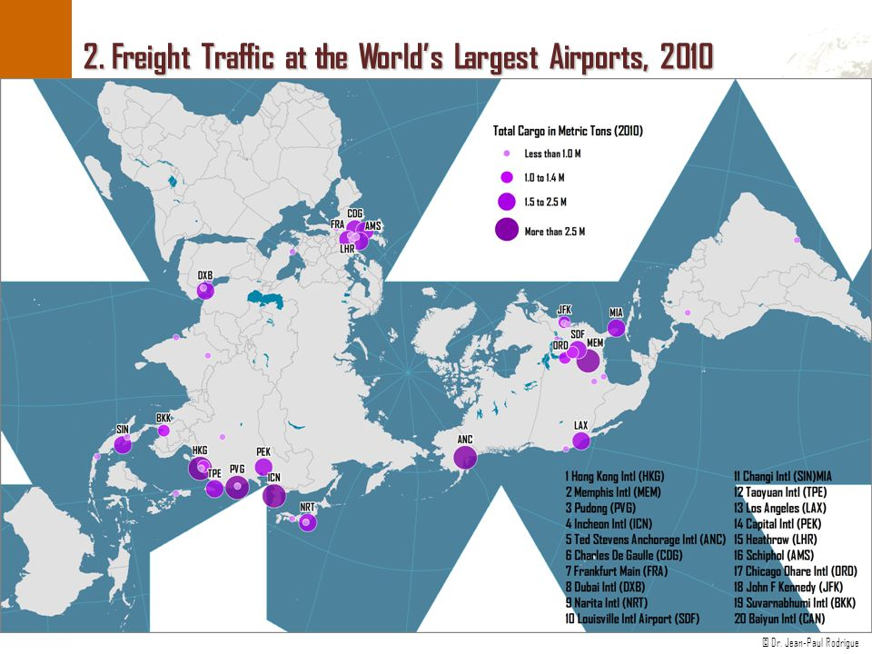 2. Freight Traffic at the World's Largest Airports, 2010