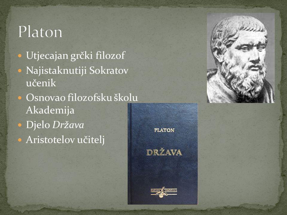 Platon Utjecajan grčki filozof Najistaknutiji Sokratov učenik