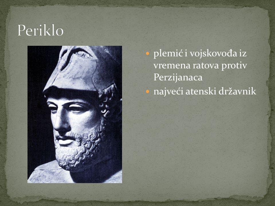 Periklo plemić i vojskovođa iz vremena ratova protiv Perzijanaca