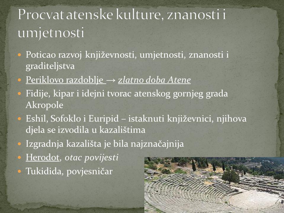 Procvat atenske kulture, znanosti i umjetnosti
