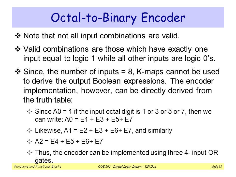 Octal-to-Binary Encoder