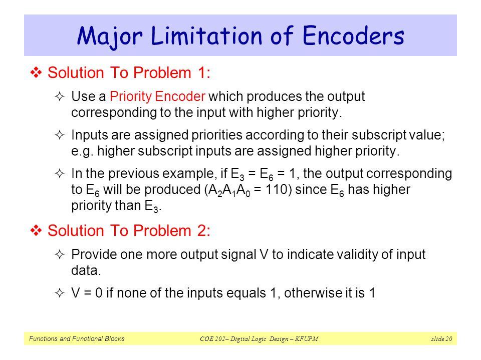 Major Limitation of Encoders