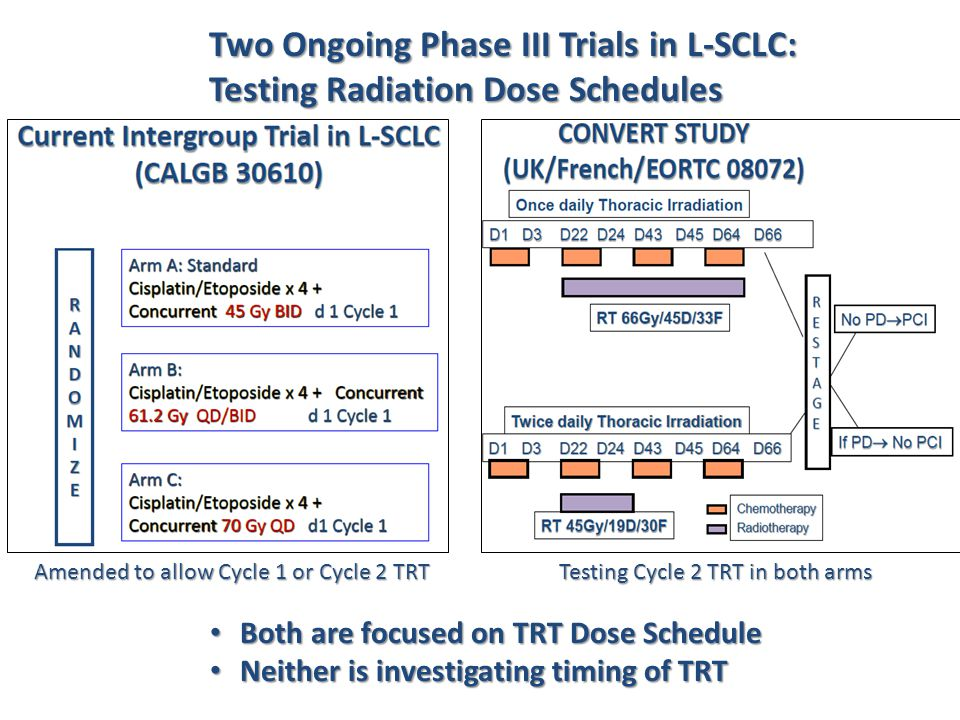 Two Ongoing Phase III Trials in L-SCLC: