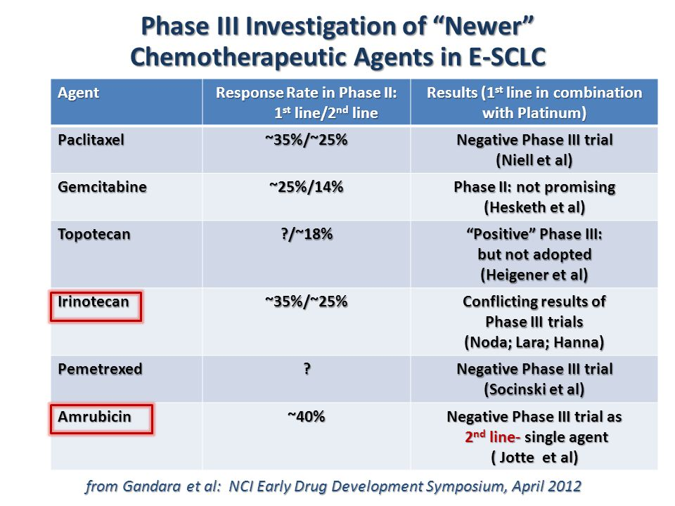 Phase III Investigation of Newer Chemotherapeutic Agents in E-SCLC