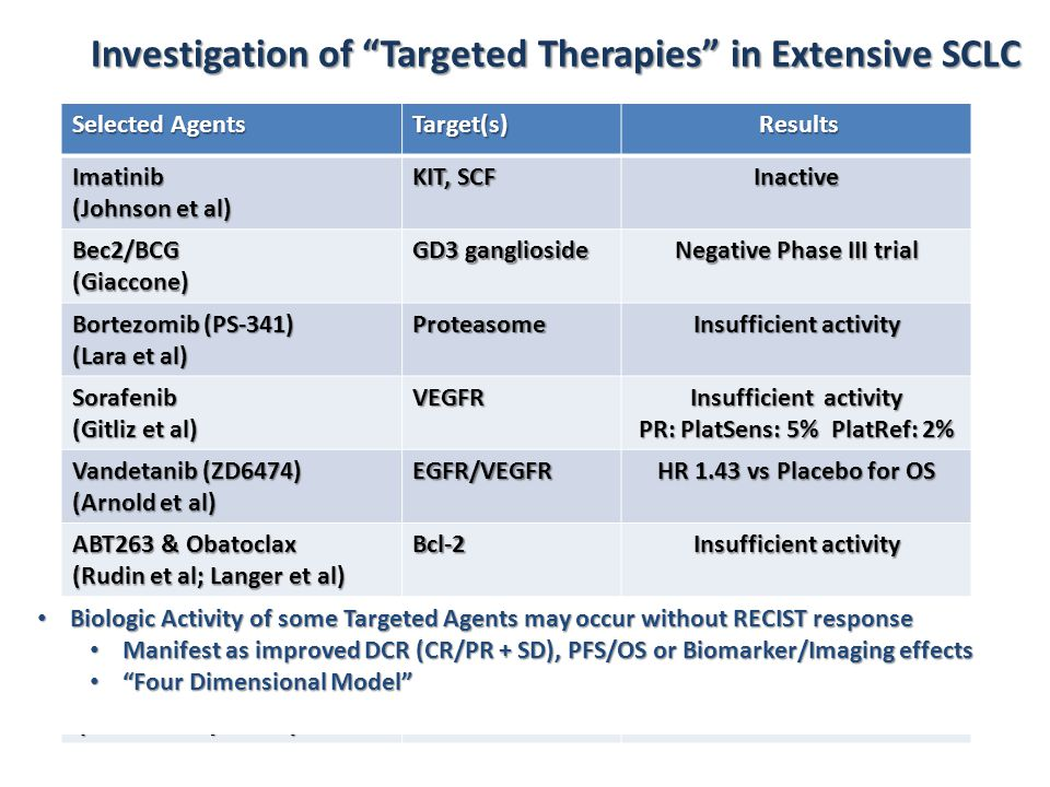Investigation of Targeted Therapies in Extensive SCLC