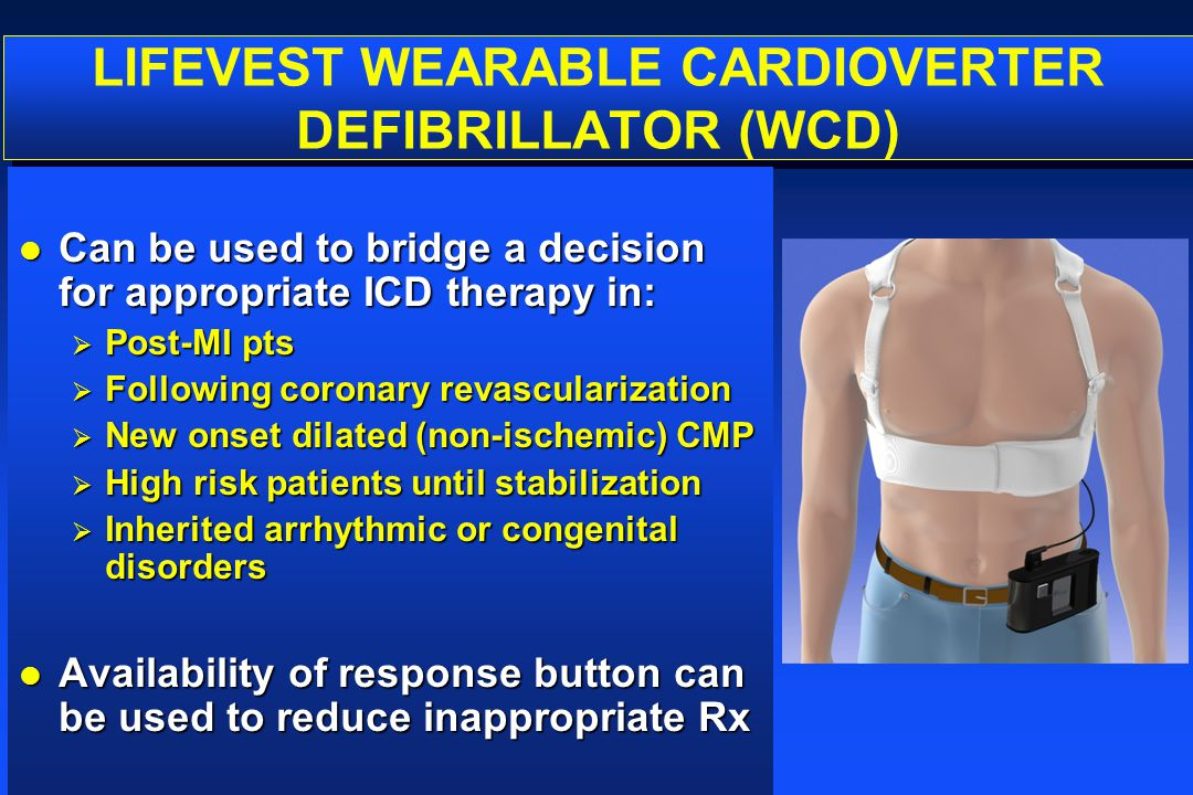 LIFEVEST WEARABLE CARDIOVERTER DEFIBRILLATOR (WCD)