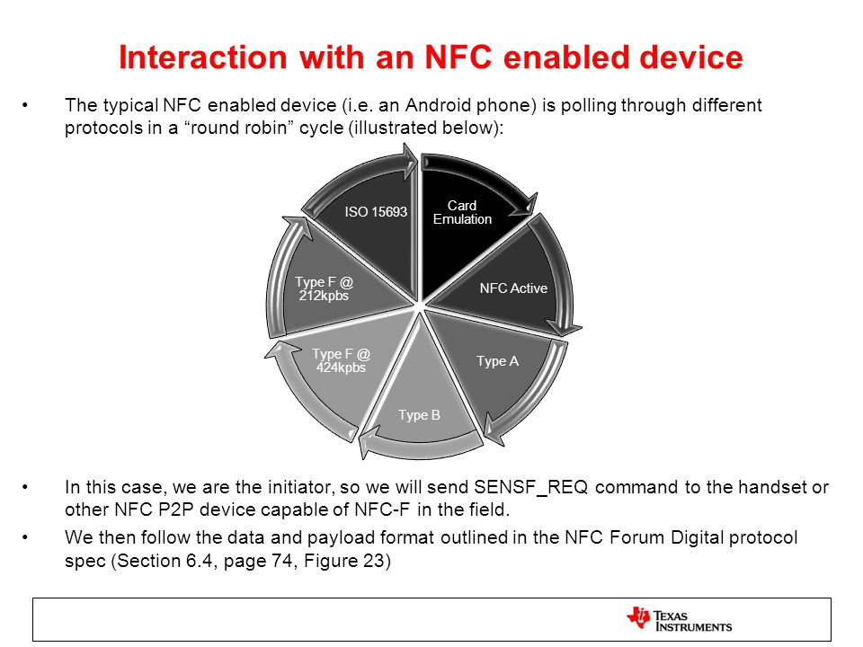 Interaction with an NFC enabled device