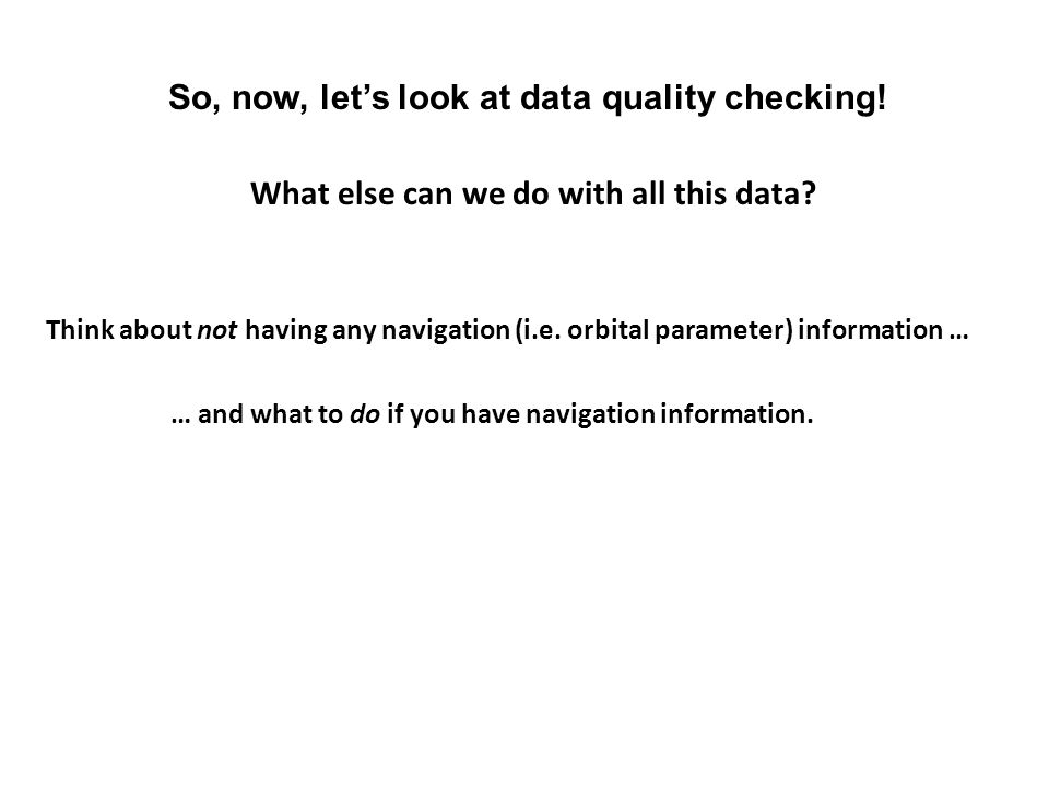 What else can we do with all this data
