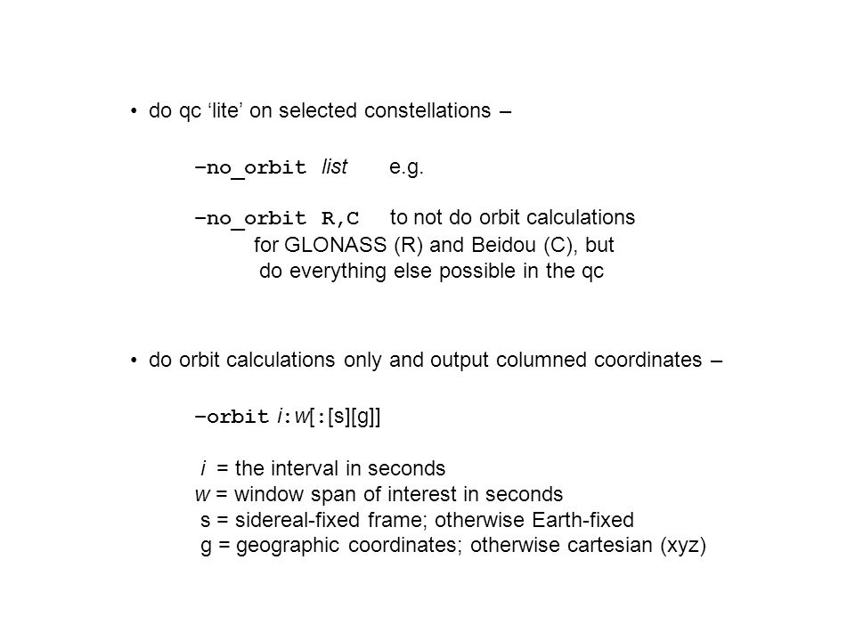 do qc 'lite' on selected constellations –