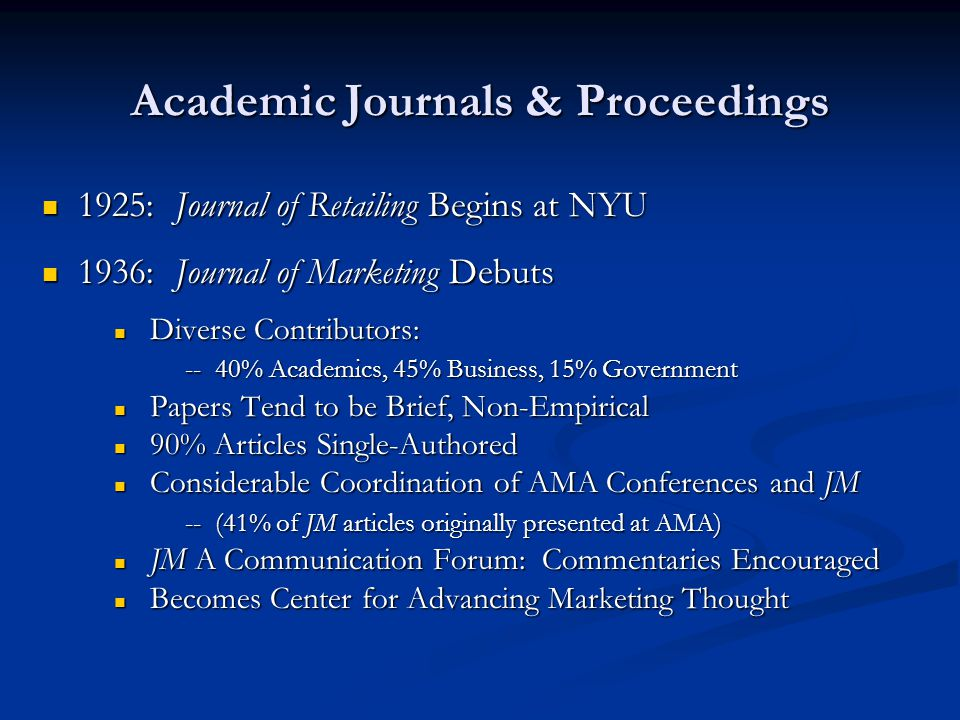 Academic Journals & Proceedings