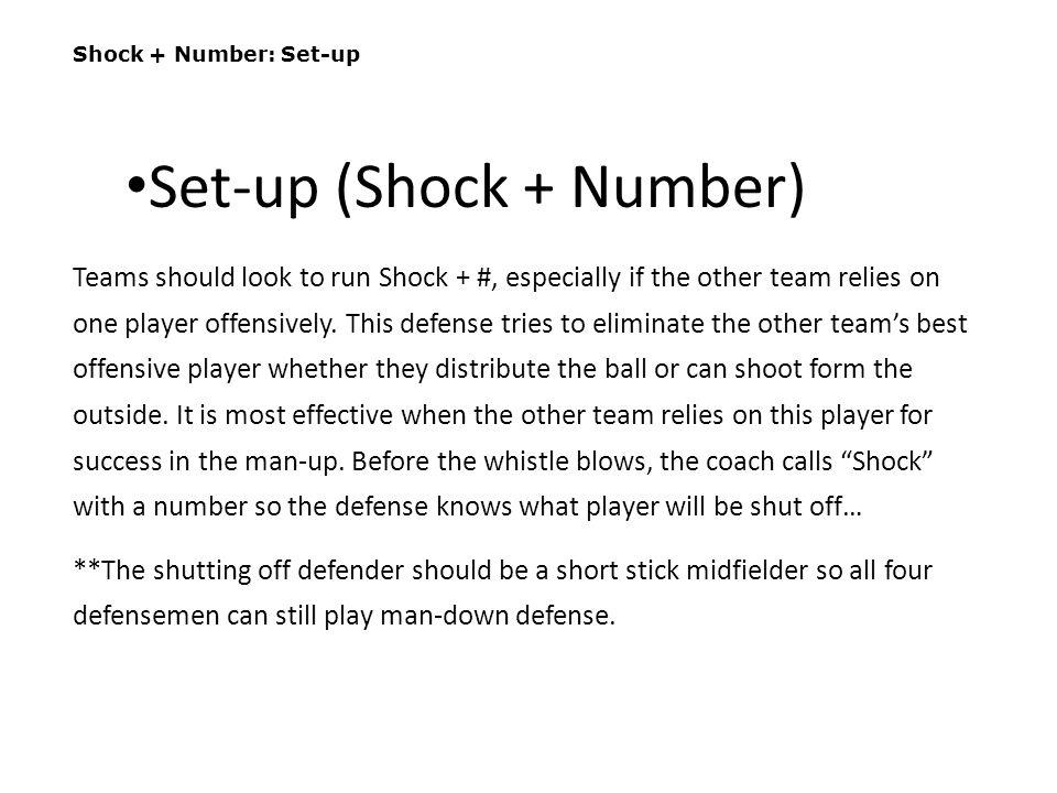 Set-up (Shock + Number)