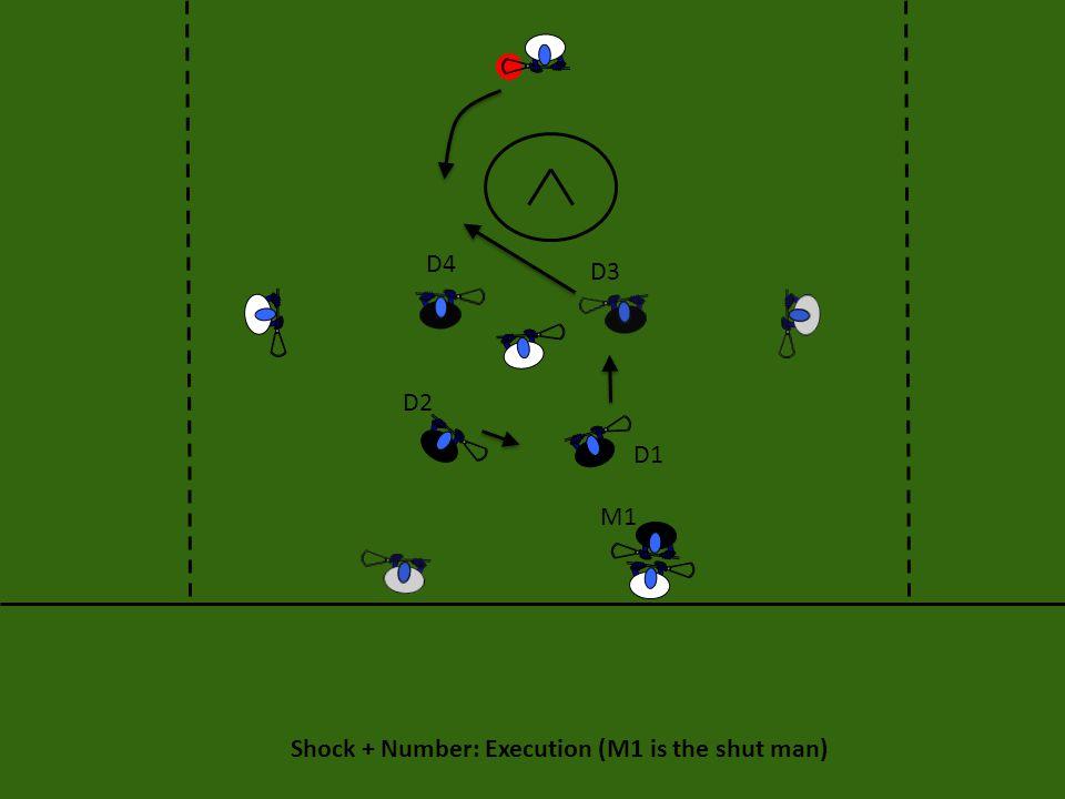 D4 D3 D2 D1 M1 Shock + Number: Execution (M1 is the shut man)