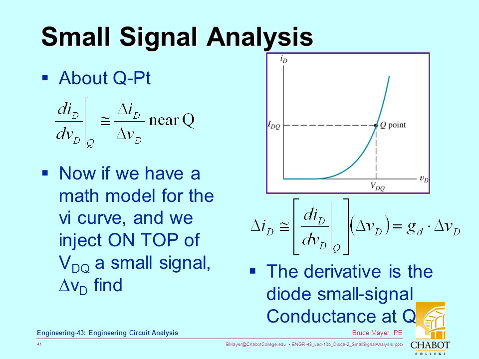 Small Signal Analysis About Q-Pt