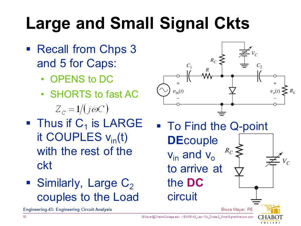 Large and Small Signal Ckts