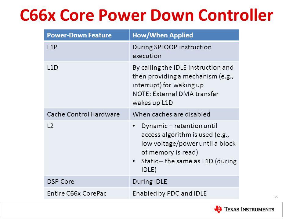 C66x Core Power Down Controller