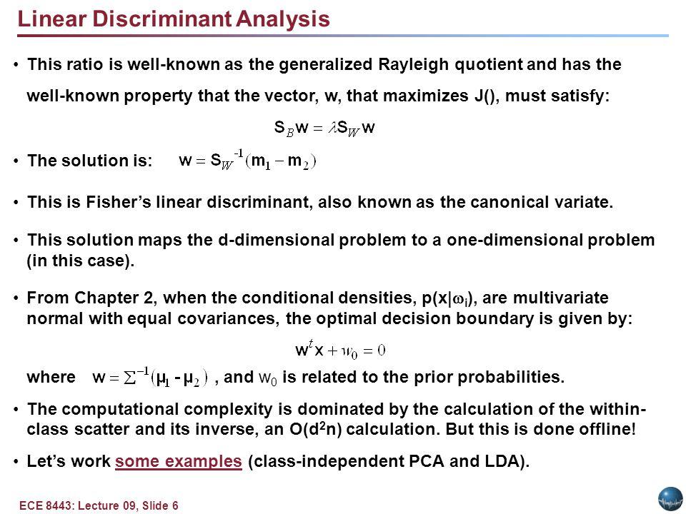 Multiple Discriminant Analysis