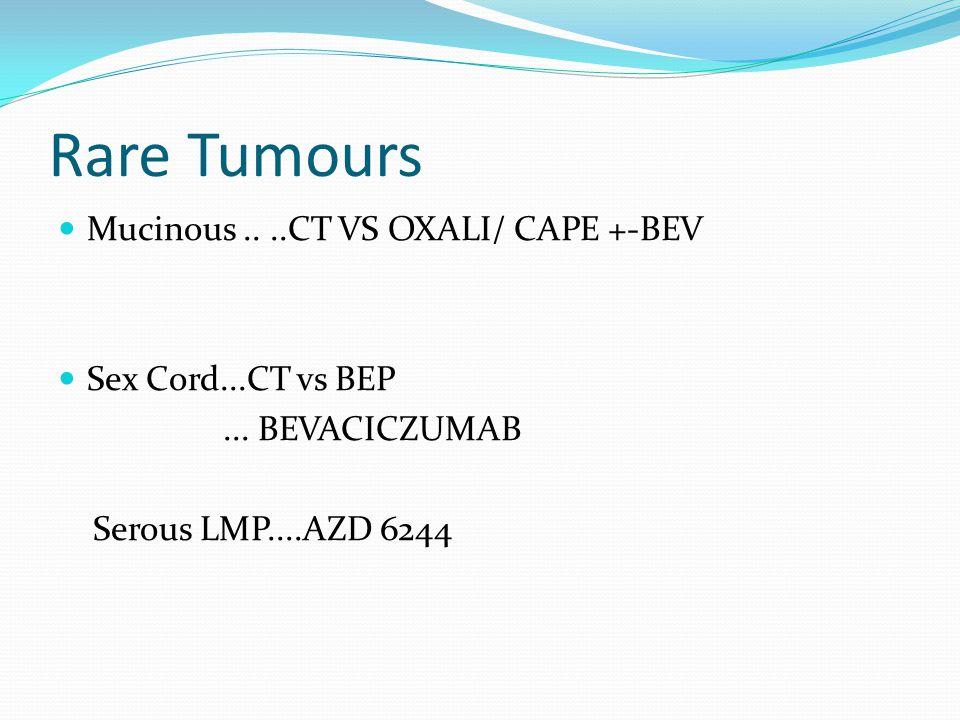 Rare Tumours Mucinous .. ..CT VS OXALI/ CAPE +-BEV