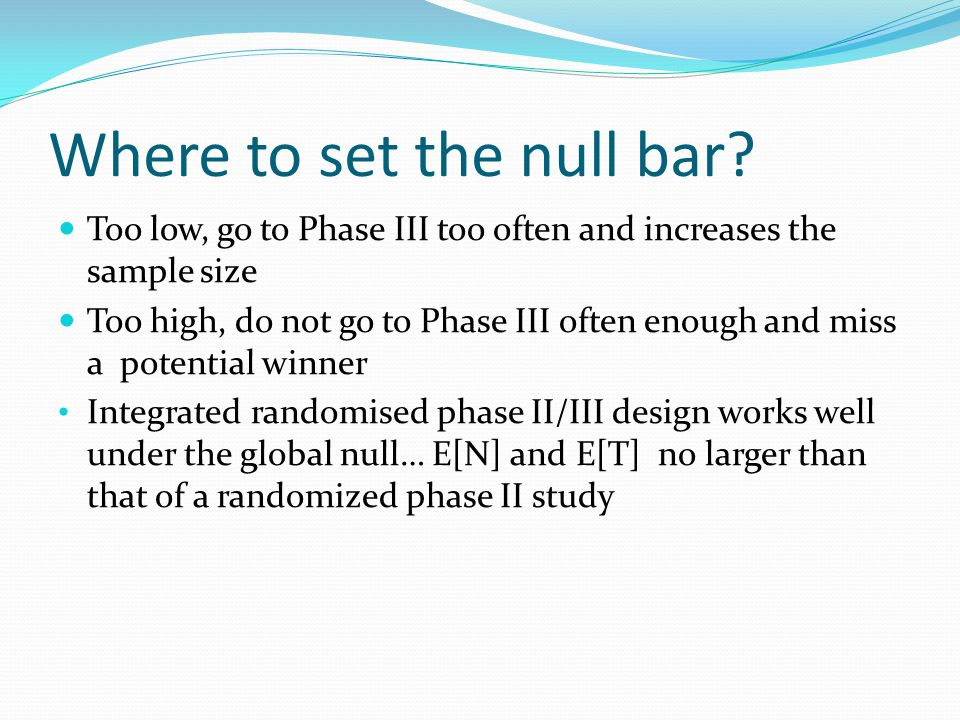 Where to set the null bar