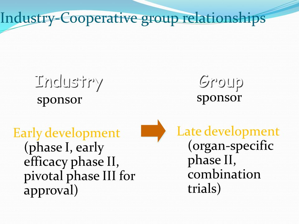 Industry Group Industry-Cooperative group relationships sponsor