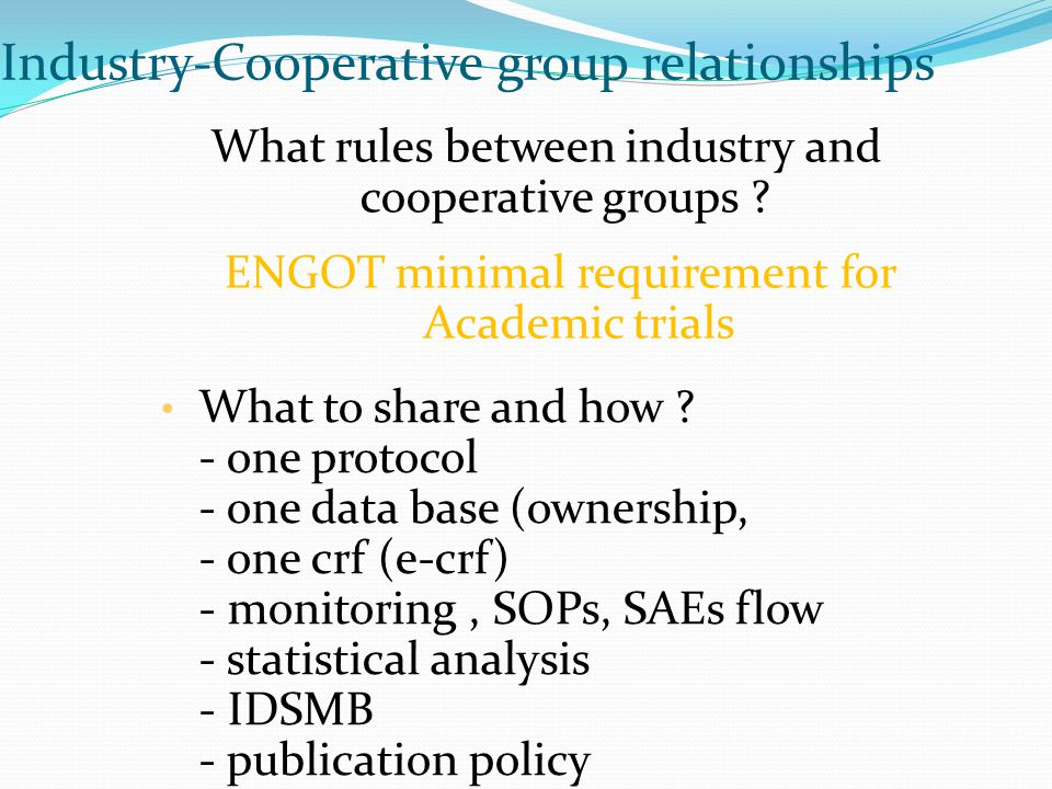 Industry-Cooperative group relationships
