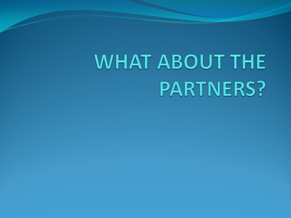 WHAT ABOUT THE PARTNERS