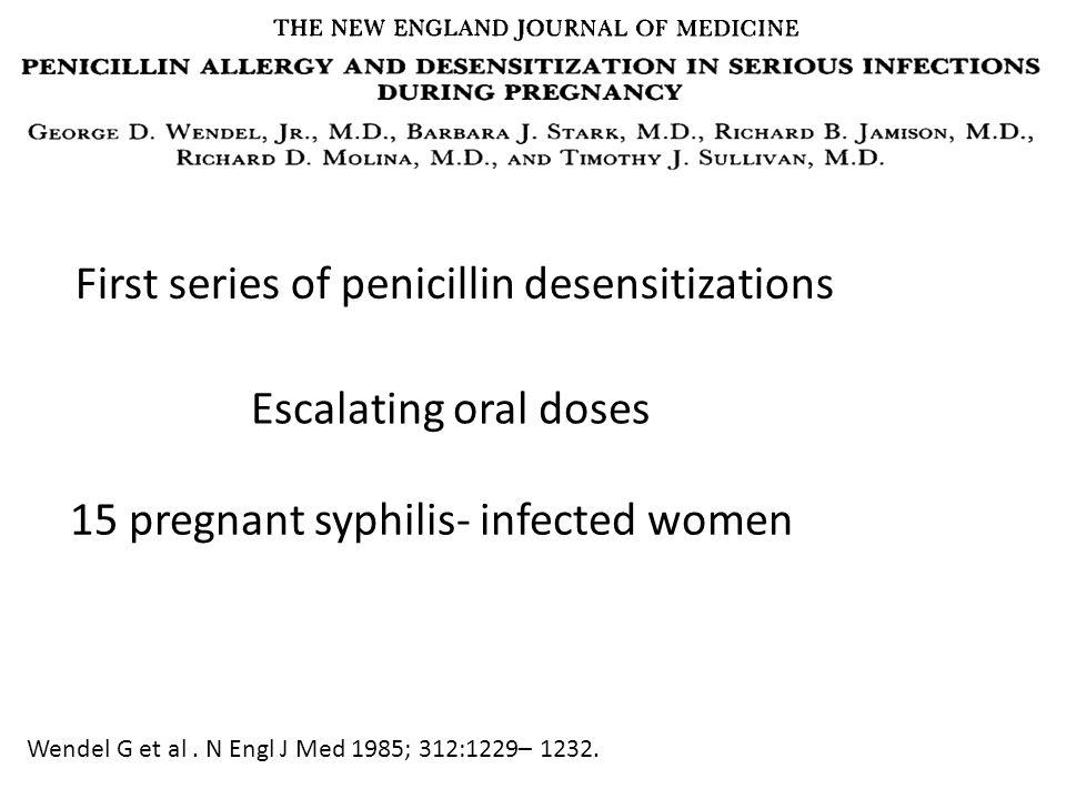 First series of penicillin desensitizations