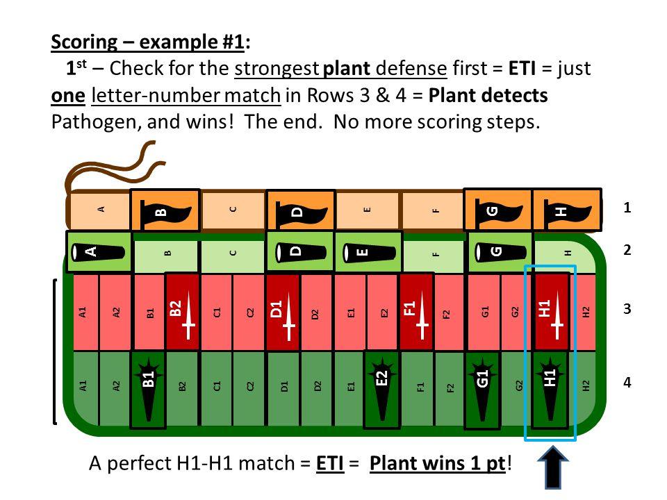 A perfect H1-H1 match = ETI = Plant wins 1 pt!