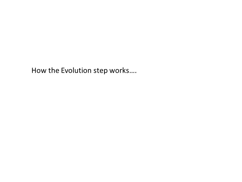 How the Evolution step works….