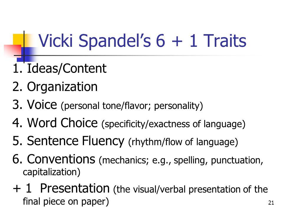 Vicki Spandel's 6 + 1 Traits